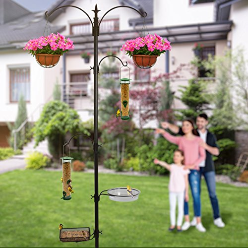 Sorbus-Bird-Feeding-Bath-Station-Metal-Deck-Pole-for-Bird-Feeders-Great-for-Attracting-Birds-Outdoors-Backyard-Garden