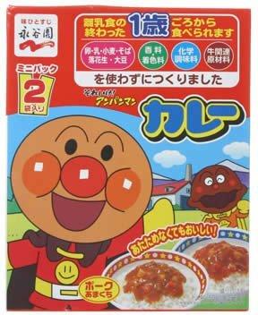 (NAGATANIENN Anpanman Mini Pack Curry Pork Sweet Taste 50g-2bags by Nagatanien)