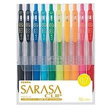 Zebra gel ballpoint pen Sarasa clip 0.7 JJB15-10CA 10 color set