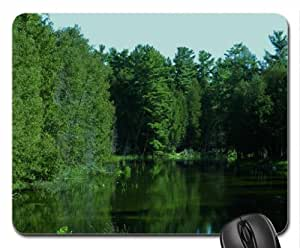 Reflections In Green Mouse Pad, Mousepad (Rivers Mouse Pad)