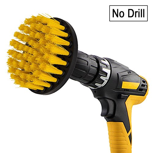 Scouring Pad Brush Electric Drill Clean Kitchen Floor Hard: Drill Brush-Sleepsoon Spin Scrubber Electric Cleaning