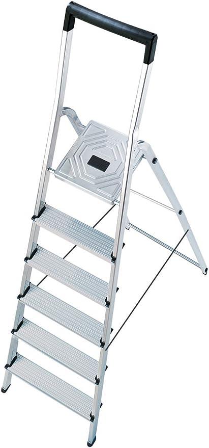 Hailo l40 easyclix - Escalera domestica l40 6 peldaños 190cm aluminio: Amazon.es: Bricolaje y herramientas