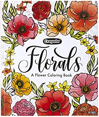 Crayola Flower Coloring Book 40 Premium Adult Coloring Pages Gift Multi Amazon Sg Toys Games