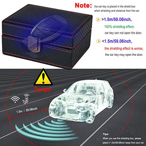 MONOJOY Faraday Box Cage Anti Theft Car Keyless Signal Blocker Security RFID Faraday Key Fob Protector Prevent Your Key Fob from Being Scanned