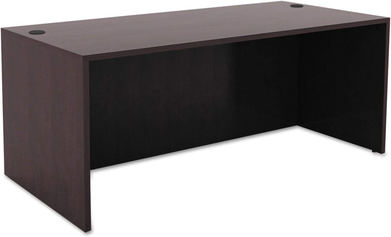 Alera, VA216630ES, Valencia Series Straight Front Desk Shell, 65w x 29.5d x 29.63h, Espresso