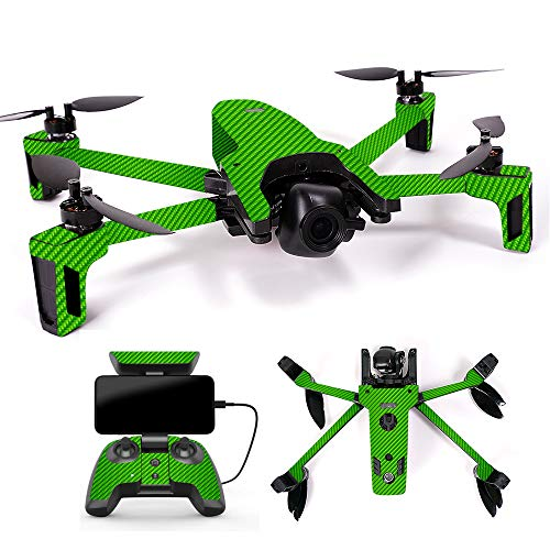 MightySkins Skin for Parrot Anafi Drone – Lime Carbon Fiber | Protective, Durable, and Unique Vinyl Decal wrap Cover | Easy to Apply, Remove, and Change Styles | Made in The USA Review
