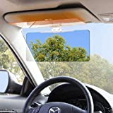 Gozebra(TM) Durable Car Sun Visor Anti-Glare Blocker UV Fold Flip Down HD Day Night Vision