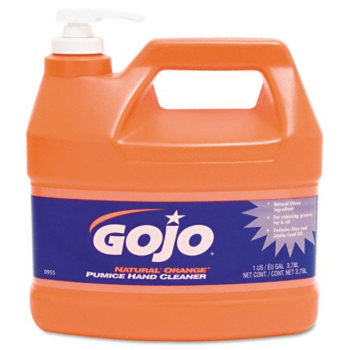 GOJO : Natural Orange Pumice Hand Cleaner, Orange Citrus, 1gallon Pump, 4 per Carton -:- Sold as 2 Packs of - 4 - / - Total of 8 Each