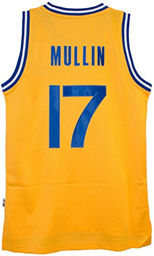 (adidas Chris Mullin Golden State Warriors Gold Throwback Swingman Jersey Large)