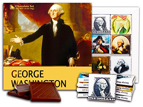 DA CHOCOLATE Candy Souvenir GEORGE WASHINGTON Chocolate Set 5x5 1 box (Picture)