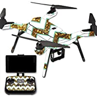 Skin For 3DR Solo Drone – Glitzy Chevron | MightySkins Protective, Durable, and Unique Vinyl Decal wrap cover | Easy To Apply, Remove, and Change Styles | Made in the USA