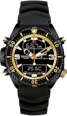 Chris Benz Depthmeter Digital CB-D200-MK1 Cronógrafo para hombres Ordenador de Buceo: Amazon.es: Relojes