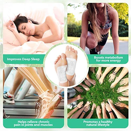 Sole Soothe Foot Pads Upgraded Premium 2 in1, 100% All Natural Foot Patches for Increased Energy, Deep Sleep, Anti-Stress, 7 Types -Ginger,Mint,Rose,Green Tea,Lavender,Coconut - 28 Counts (Box of 1) 6