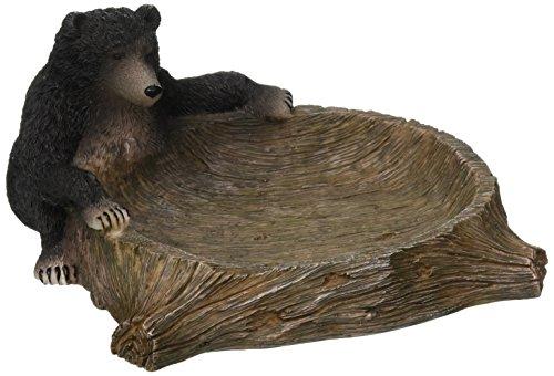 Avanti Linens Black Bear Lodge Soap Dish, Multi