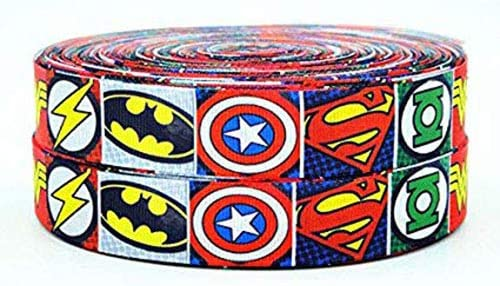 Groovy 2M X 22Mm Wide Superhero Character Ribbon For Personalised Birthday Cards Printable Riciscafe Filternl