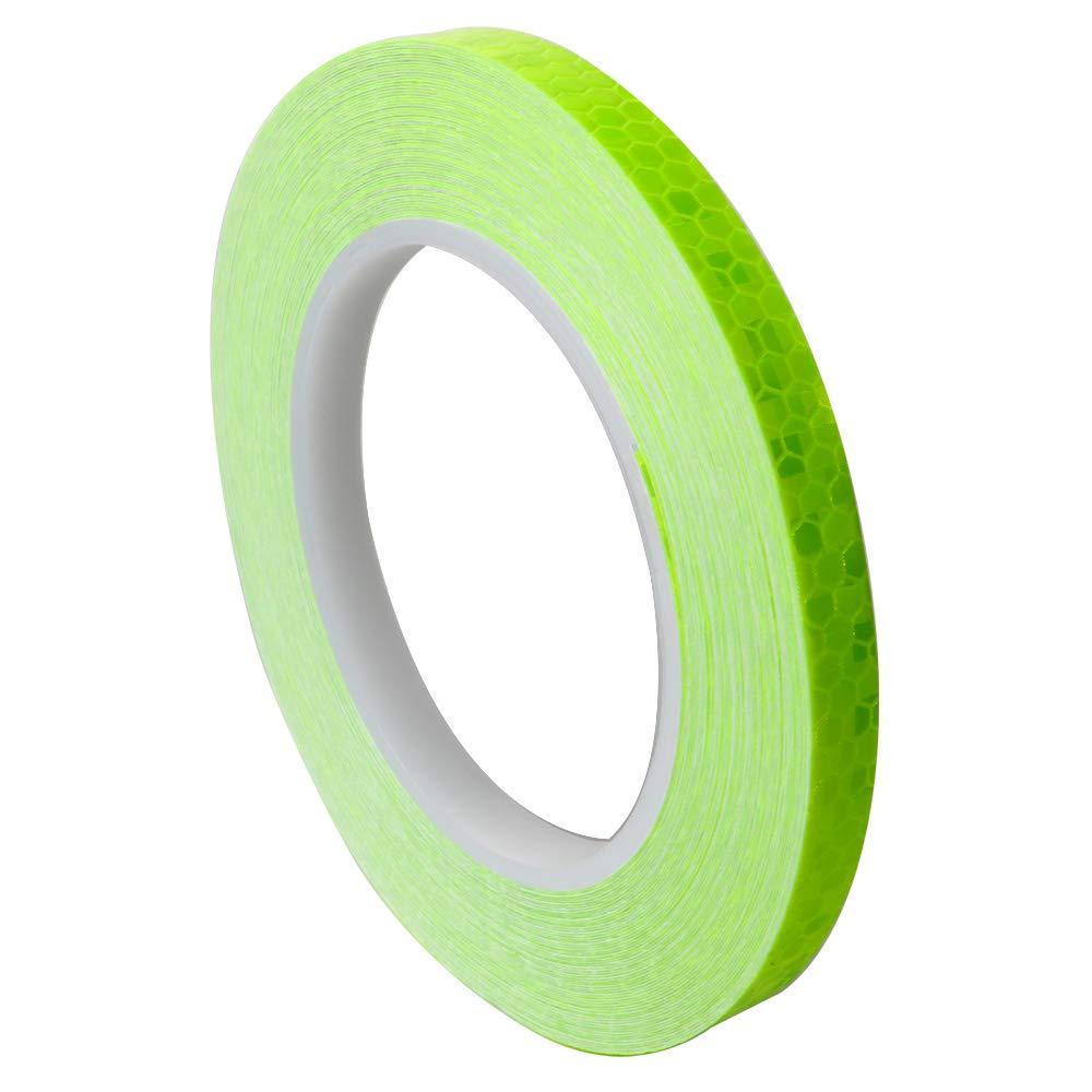 ARTGEAR Reflective Tape 10mm /× 20m Waterproof Reflector Safety Tape Reflector Warning Tape Green