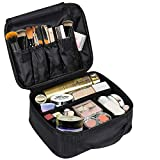 """Callica Makeup cosmetic Storage Case, portable Travel Makeup Bag Mini Makeup Train Case with Adjustable Dividers Cosmetic Bag Toiletry Organizer Tool with Adjustable Dividers (V(9.8"""" x 7.9"""" x 3.9""""))"""