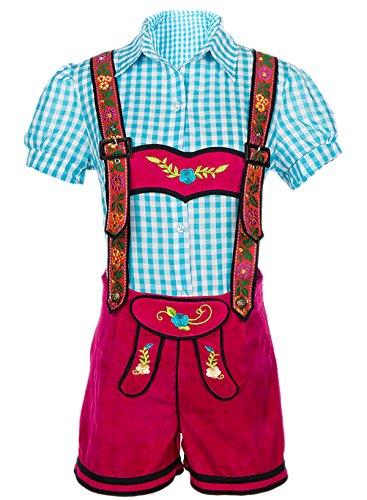 Gretchen Costume Halloween (Alivila.Y Fashion Bavarian Oktoberfest Costume Women Lederhosen 31678-S Blue/Hot)