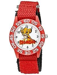 Disney Kids 'w002132el rey León analógico de cuarzo rojo reloj