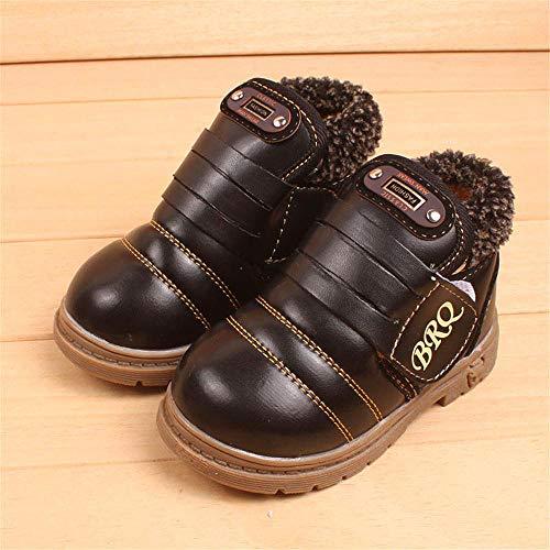 Waterproof Bottes Kemosen Fille Chaud Bébé Garçons Mixte Chaussures Fashion Casual Noir qH6tXw6r