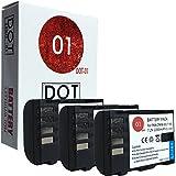 DOT-01 3x Brand Panasonic Lumix DMC-GH5S Batteries for Panasonic Lumix DMC-GH5S Mirrorless and Panasonic GH5S Battery Bundle for Panasonic BLF19 DMW-BLF19