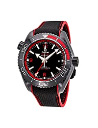 OMEGA MEN'S 45MM RUBBER BAND CERAMIC CASE AUTOMATIC WATCH 21592462201003