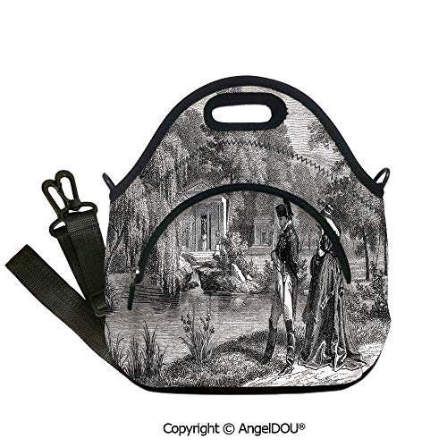 AngelDOU Vintage lightweight Portable Picnic tote lunch Bags