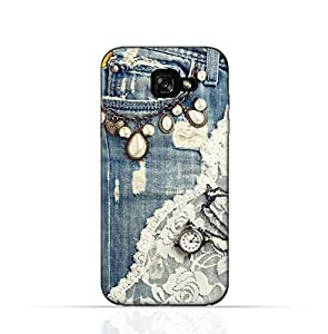 Samsung Galaxy A3 TPU Silicone Case with Modern Jeans Pattern