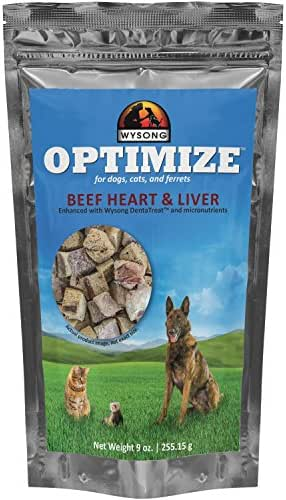 Wysong Optimize Beef Heart & Liver For Dogs, Cats & Ferrets, One Size/9 Oz