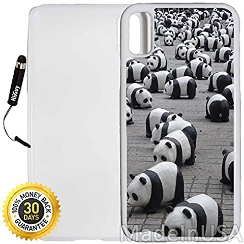 Custom iPhone X Case (Famouse Panda Miniature Park) Edge-to-Edge Plastic White Cover with Shock and Scratch Protection | Lightweight, Ultra-Slim | Includes Stylus Pen by - Park Miniature