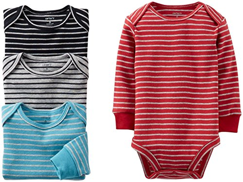 Carter's 4 Pack Striped Bodysuits (Baby) - Assorted-3 Months