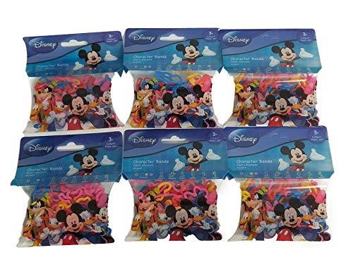 Disney Character Silly Bandz (6pk) 184 Bands Mickey Donald Goofy Pluto Minnie Mouse by Disney Bandz (Image #1)
