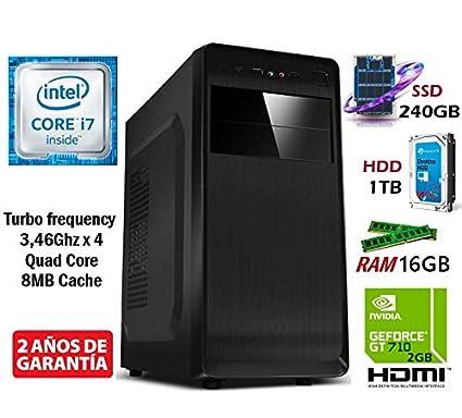 PC Ordenador SOBREMESA Intel Core i7 Quad Core up to 3,46Ghz ...