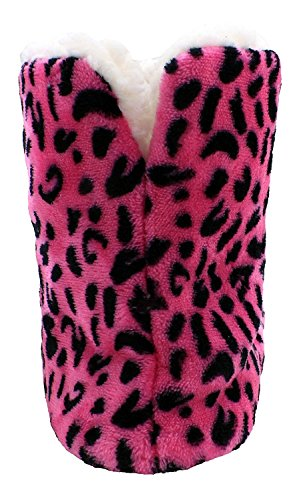 Enimay Dames Slipper Boots Lounge House Relaxed Schoenen Hearts Stars Polka Dots Hot Pink Animal - 3