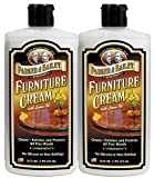 Parker & Bailey Furniture Cream 16 oz, 2 PACK SET, Rejuvenates and gently cleans fine wood finishes