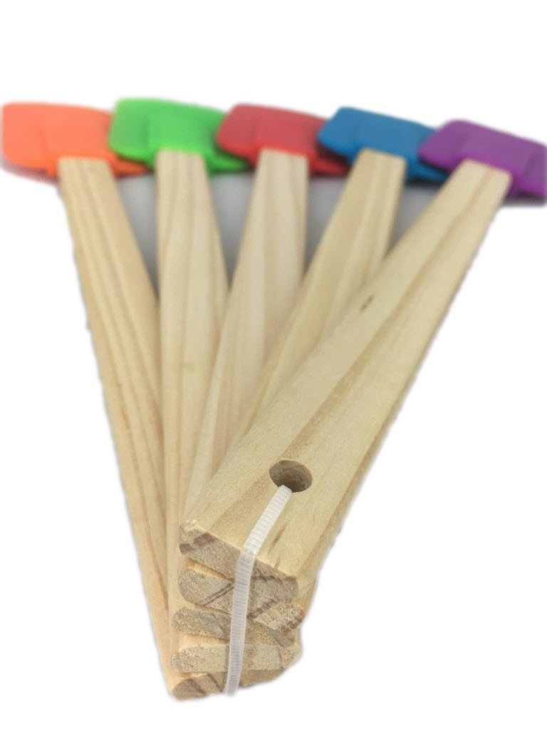 5 Piece Wood Handle Rubber Spatulas from Bamboo Style Concepts by Bamboo (Image #4)