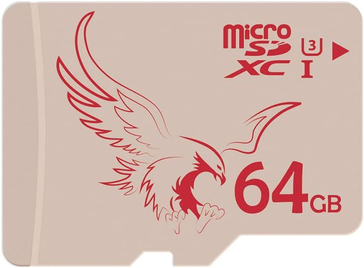 BRAVEEAGLE Micro SD Card 64GB UHS-I 3 Micro SDXC Memory Card UHS-I for Dashcam (U3 64GB 5 Pack)