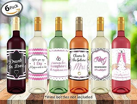 Bachelorette Wedding Wine Bottle Labels - 4
