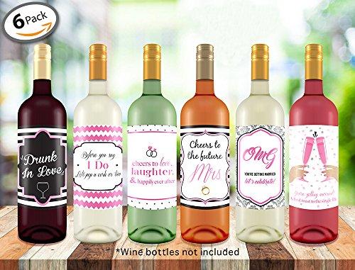 Bachelorette Wedding Wine Bottle Labels product image