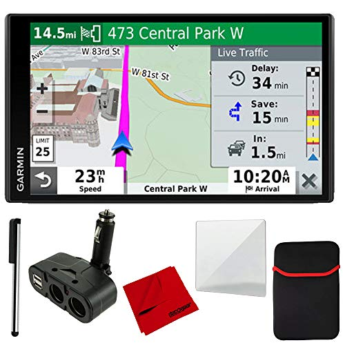 Garmin Stylus (Garmin DriveSmart 65 & Traffic with Included Cable & 4 Port USB/DC Car Charger and More)