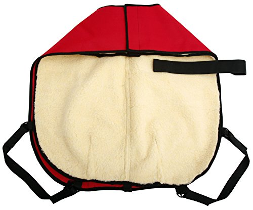 All Seasons Sherpa Coat Vest for Dogs with Velcro Strap for Large Dogs (Large - Red) by All Seasons Products, Inc. (Image #4)