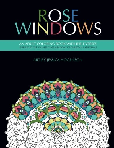 Rose Windows: An Adult Coloring Book wit - Bible Verse Activities Shopping Results