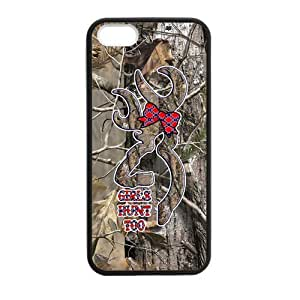 JDSitem Lovely Browning Cutter Logo Realtrees Real Tree Camo Case Cover Sleeve Protector for Phone iPhone 4s TPU (Laser Technology)