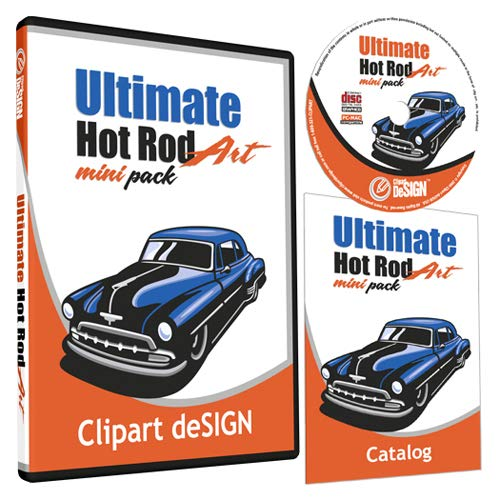(Hot Rod Cars Clipart-Vinyl Cutter Plotter Images-Vector Clip Art Graphics CD-ROM )