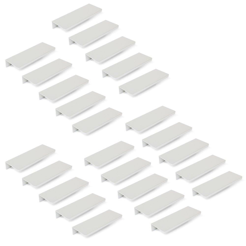 Emuca 9166162 Tirador para Mueble, Anodizado Mate, L 198mm, Set de 25 Piezas