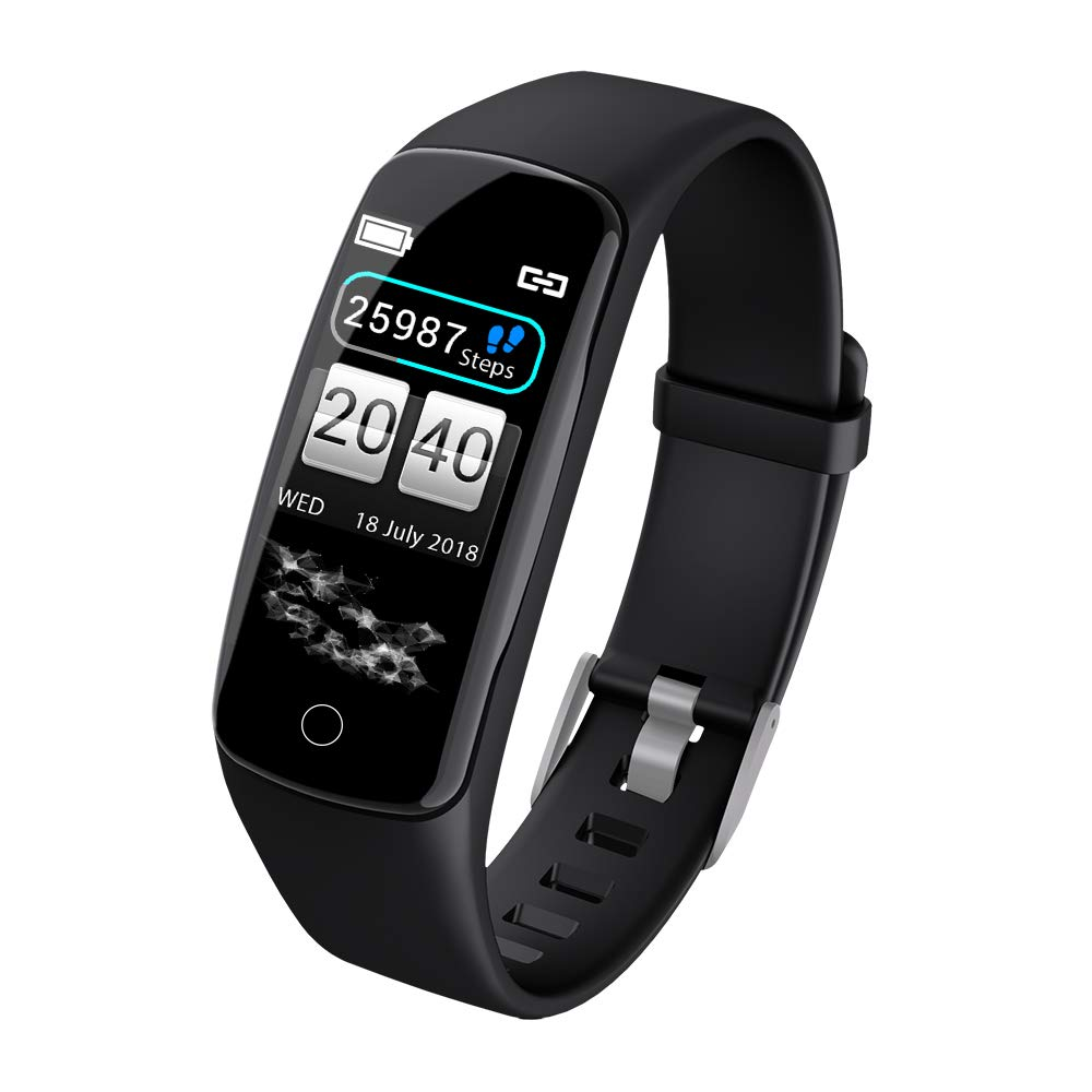 Fitness Tracker, Smart Bracelet, Calorie Pedometer, Fitness Wristband, with Sleep Monitor, Heart Rate, Blood Pressure/Oxygen Monitor, IP68 Waterproof Smart Pedometer Men's and Women's Watches
