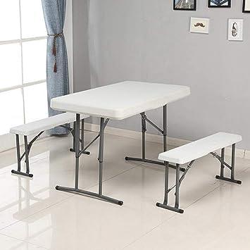 Homgrace - Juego de Mesa de Comedor y sillas Plegables, 3 ...