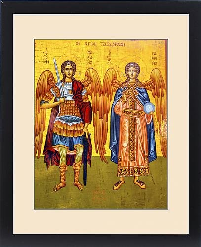 Framed Print of Saint Michael Angels Golden Icon Saint George s Greek Orthodox Church by Fine Art Storehouse