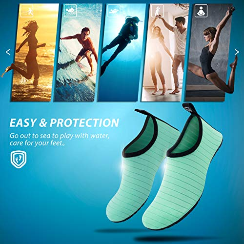 Aqua Quick Yoga Surf Dry SWS001 Socks Shoes Beach Swim Exercise Womens Outdoor for SIMARI Water Stripe Mens Green Barefoot and x0nRwfgZ
