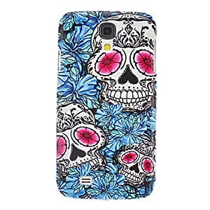 GJY Skulls with Blue Flowers Pattern Hard Case for Samsung Galaxy S4 I9500